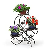 HLC-Bronze Porte Pot Pots de Plante Fleurs 3 Etagere Support...