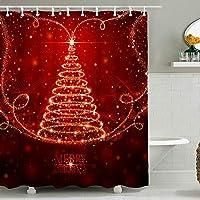 クリスマスクリスマス防水浴室カーテン、デジタル印刷タペストリー壁の装飾、大きさとパターンをカスタマイズすることができます(180 X 180センチ) 5