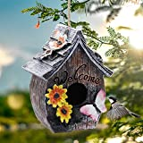 MorTime Wood Bird House, Retro Arts and Crafts Country Cottages Bird...