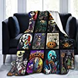 The Night-mare Before Chris-tmas Jack And Sally Blanket Flannel Fleece Throw Blanket All Seasons Plush Fuzzy Lightweight Ultra Soft Plush Luxury Fluffy Microfiber Blanket For Bed/Sofa/Chair 40X50inch
