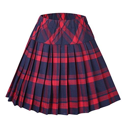 Urban GoCo Mujeres Falda Escocesa Plisada Cintura