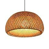 Estilo chino creativo bambú tejido lámpara de mimbre luz colgante con la jaula de pájaros para la sala de barbero sala de estar de la casa de la casa de la casa de la casa de la sala de bambú arcilla