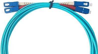AJW(A.J.WORLD) Fiber Patch Cable(50/125) Multi-Mode Duplex SC to SC (3 Meter, Aqua OM3)