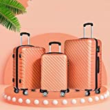 Luggage Three-Piece Suitcase 20 Inch 24 Inch 28 Inch Suitcase Set Portable Carrying Trolley Luggage ABS with Gyro Wheel Business Travel Bag Scratch Luggage Sets