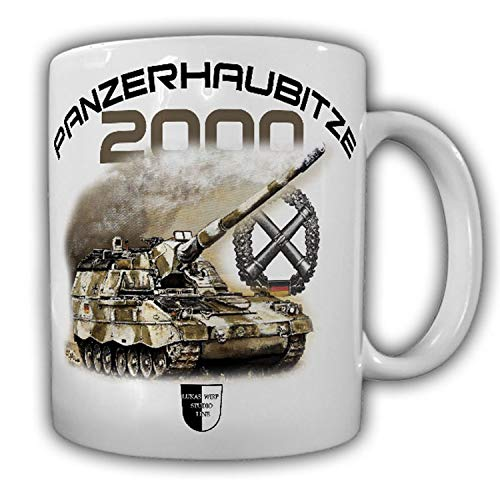 Tasse Lukas Wirp PzH 2000 Panzerhaubitze Artillerie ISAF Panzer BW Gemälde Kunst #23490