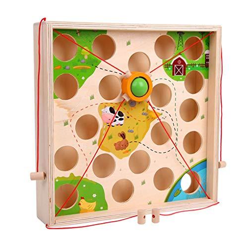 F-blue Ziehen Kugeltisch Spiel Kinder aus Holz Labyrinth Kindergarten Bildung Spielzeug Intellectual Early Education Intellectual Atrength Eltern-Kind-Spielzeug