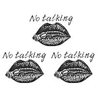 Artibetter 3個の唇アイアンでパッチなし撮影唇刺繍アップリケパッチソーオンパッチdiy熱伝達ステッカーt-シャツジーンズ袋黒