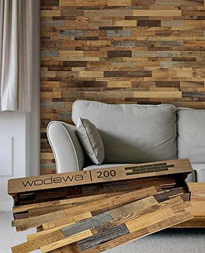 wodewa - Pannello di design per parete in legno di pino 3D, 0,96 m², rivestimento interno in legno, parete in legno di pino, parete in legno di pino