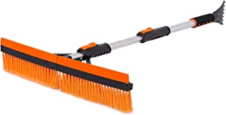"""Snow MOOver 46"""" Extendable Snow Brush with Squeegee & Ice Scraper – Foam.."""