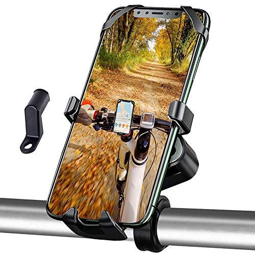 BTNEEU Fahrrad Handyhalterung Universal 360° Drehbar Motorrad Handyhalter Fuer Fahrrad Motorrad Scooter, Antishake Handyhalter Fahrrad Kompatibel mit Smartphones 4,0-6,5 Zoll (Schwarz)