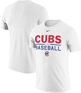 Nike Men's Chicago Cubs White Practice Performance T-Shirt