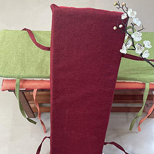 ZHOUZHOU Cojín grueso para banco de jardín de espuma extraíble para muebles de jardín, 2 y 3 plazas, antideslizante para exteriores, para patio, interior y ventana, colchón de repuesto