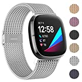 Stainless Steel Metal Bands for New Sense & Versa 3: HAPAW metal bands are compatible with Fitbit Sense Advanced Smartwatch & Versa 3 Smartwatch Only. They will make your new Sense /Versa 3 infinitely more wearable with any fashion and hiding your ne...