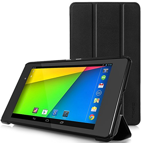 MoKo Case Fit Google Nexus 7 2013 FHD 2nd Gen, Ultra Slim Lightweight Smart-Shell Stand Cover Case with Auto Wake/Sleep Fit Google Nexus 2 7.0 Inch 2013 Generation Android 4.3 Tablet, Black