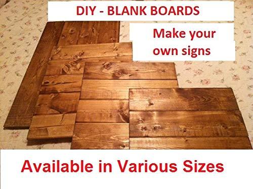 onbekend Wall Art Blank houten teken, maak uw eigen teken, blanco bord, teken maken benodigdheden, DIY teken teken, pallet hout teken, houten teken, DIY pallet hout teken houten plaque, custom gift