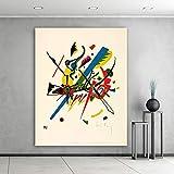 Embellezca las imágenes abstractas del arte de la pared para la sala de estar Pequeños mundos Decoración del hogar Arte de la lona Pintura al óleo A 40x50cm