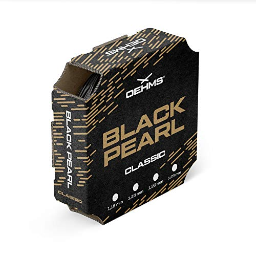 Oehms Black Pearl Classic | 200m Rolle | Ø 1,18/1,23/1,26 mm | monofile Co-Polyester Tennissaite (1.26 mm)