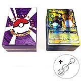 Jeux de Carte 120 Pièces Jeux De Cartes Pokemon Cartes Style EX Art Complet 80 Cartes EX 20 Cartes Méga EX 20 Cartes GX 1...
