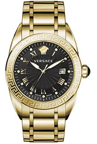 Versace Homme Analogique Quartz Montre avec Bracelet en Acier Inoxydable VFE160017