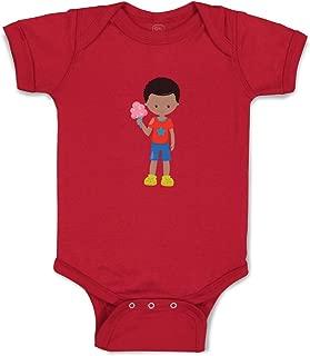 Custom Boy & Girl Baby Bodysuit Boy Eats Cotton Candy B Cotton Baby Clothes