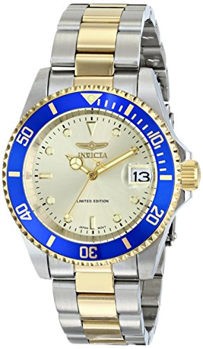 Invicta Men's ILE8928OBASYB Limited Edition 'Pro Diver' Two-Tone Automatic Watch with Link Bracelet