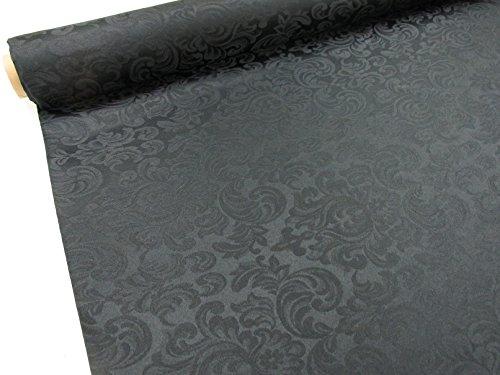 Confección Saymi Tela Raso Brocado, 2,45 MTS Ref. Damasco, Color Negro, con Ancho 2,80 MTS.