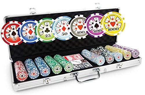 Valigetta Poker Laser Deluxe, 500 fiche