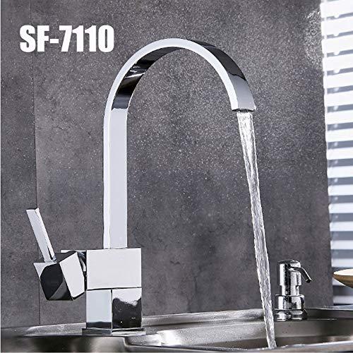 Spültischarmatur Wasserhahn Küchenarmatur Waschbecken mischbatterie Küche Einhebelmischer 360° Schwenkauslauf Spülbeckenarmatur
