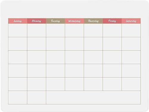 lowest Dry Erase popular Board Blank Calendar 9 x 12 Inches School Learning Tool, high quality Trendy Office or Grade School or Homeschool Teaching Aid, Pink Design online sale
