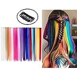 [CARATTERISTICA]: Extension capelli arcobaleno clip accessori per capelli per bambini donna ragazze per festa.