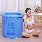 Mlshbt bathtub Bañeras inflables para Adultos Bañeras portátiles para Adultos Tinas de baño Bañeras Grandes para el hogar Tinas de remojo de Hielo Caliente para Interiores al Aire Libre (Size : L)