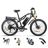 RICH BIT Vélo électrique 1000W pour Adulte Hommes Femmes, 26 * 4.0 Pouces vélo de Montagne à...
