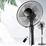 Metal Industry Hurricane Stand Fan, Oscillating Pedestal Fan with Adjustable Height and Remote