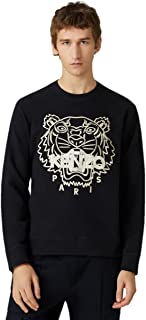 Kenzo Tiger Gold Men's Black Tiger Embroidered Gold Long Sleeve 100% Organic Cotton (Small)