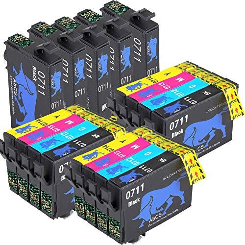 AiMoMo Compatibile Cartucce Epson T0711-T0714 Sostituzione per inchiostro Epson Stylus BX300F DX6000 SX110 SX410 SX210 SX400 SX218 DX4000 8 Nero,3 Ciano,3 Magenta,3 Giallo
