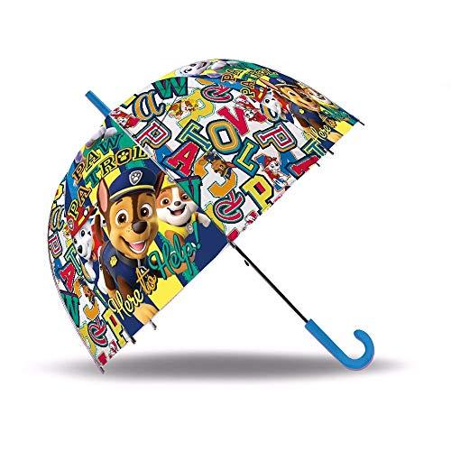 PAW PATROL Stockschirm Automatik 70 cm | Transparent | Kinder Regenschirm
