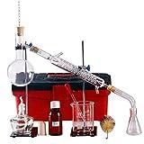 XIAOWANG Química Laboratorio cristalería destiler destilación Aparato de destilación Laboral cristalería Agua descifrado Industrial científico Haciendo Aceite Alcohol Alcohol destilador destilación