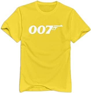 VAVD Man's James Bond 007 Short-Sleeve T Shirts