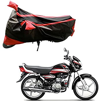 Adroitz Bike Covers Bike Body Cover For Hero Hf Deluxe In Black And Blue Amazon In Car Motorbike