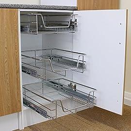 Kukoo-6-Cestos-Extrables-para-Mueble-de-Cocina-de-60cm-de-Ancho-con-Guas-Telescpicas-de-Cojinetes-de-Bolas