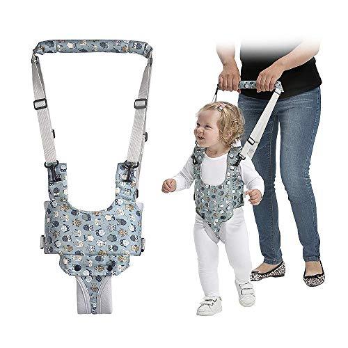 Arnes Bebe para Caminar, Bambebe Arnes Andador Bebe, Correa Bebe Para Caminar, Ajustable Arnes para Bebes, para Bebés de 6 a 28 Meses(Azul-Floral)