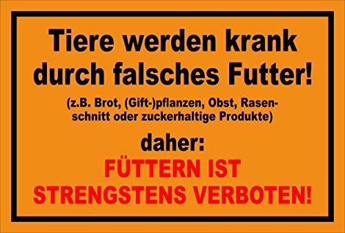 Melis Folienwerkstatt sticker schild - dieren worden ziek - S00039-016-E