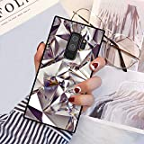 Chic Geometric Bling Diamond Case for Samsung Galaxy S9 Plus Retro Classic Stylish Cover for Samsung Galaxy S9 Plus Square Shockproof Protective Case