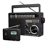 Retekess V115 Digital AM FM Radio, Portable Shortwave Radio, Support TF Card Sleep Timer and Recording, TR618 Tabletop Shortwave Radio, Personal AM FM SW Radio, Support TF USB Port, Powered by AC or D