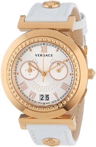 Versace Damen-Armbanduhr Vanity Chrono Chronograph Quarz Leder VA9030013