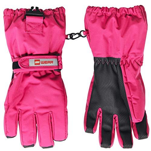 Lego Wear Mädchen LEGO Tec Action LWALFRED 704 -Fingerhandschuhe mit Membran Handschuhe,per pack Rosa (Dark Pink 474),7 (Herstellergröße:146/152)
