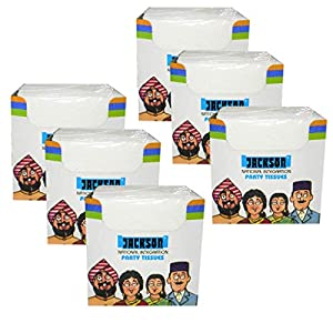 Jackson Party Paper Napkin Tissues(Large) – Pack of 6-100 Napkins Per Pack- Total 600 Napkins GAURANTEED!