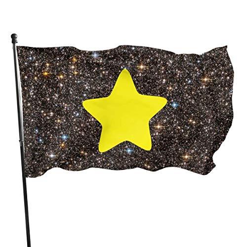 Party Garden Park/Banderas Yellow Star Logo Garden Flag, Decorations for Home Decor House Yard Outdoor Party Supplies