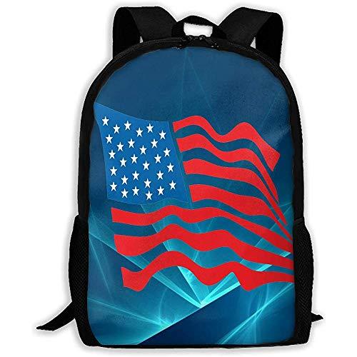 Lässige Schultasche USA Flag Independent Day 4. Juli Rucksack Frauen 3D Print Daypacks für Männer