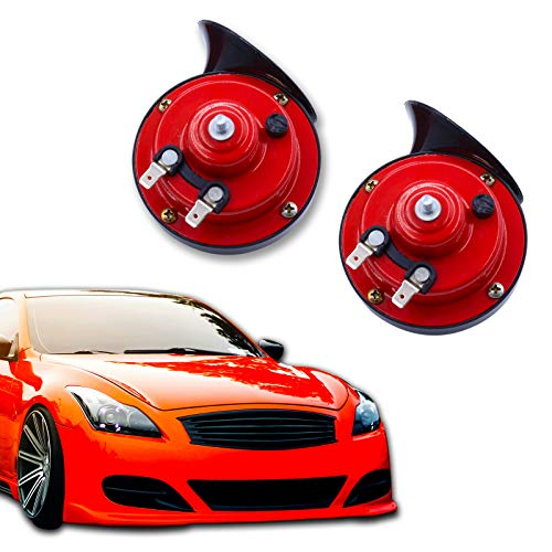 2pcs 300 DB Super Loud Train Horn, 12v Electric Waterproof Double Horn Air Speakers for Trucks, Cars, Motorcycle, Bikes & Boats
